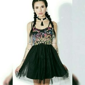 Iron fist goth tutu dress nwt